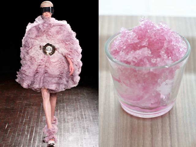 ALEXANDER McQUEEN FW 2012-13 / CHAMPAGNE ROSE ' FLAVORED AFTER-DINNER DRINK