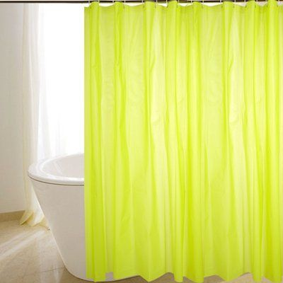 All U Want 180*180cm fashion thick curtain mildew shower curtain simple and practical waterproof polyester shower curtain bathroom curtain hanging ring sent Green All U Want $18