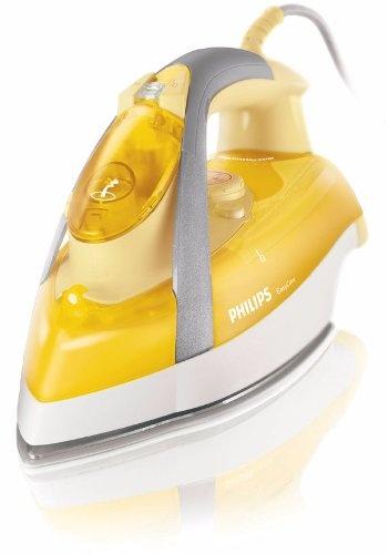Philips GC3335/02 Dampfbügeleisen (Leistungsstarker Dampfstoß: 120g/Min, 35g/Min konstant hoher Dampfaustoß, 3m extra langes Kabel)  gelb / weiß