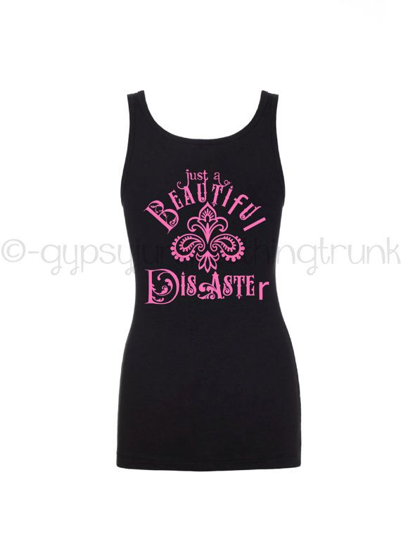 Gypsy Tank Top  Beautiful Disaster Tank Top  by GypsyJunkClothing