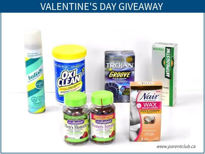 Valentine's Day Giveaway via www.parentclub.ca