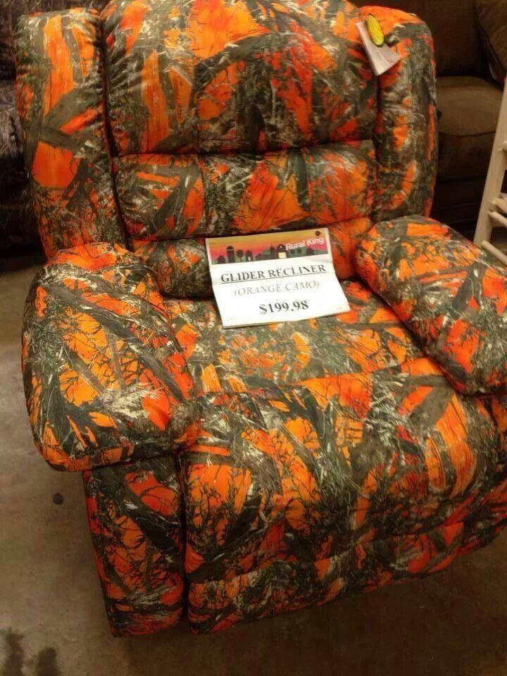 Orange Camo Recliner Cool Furniture Rooms Living Room Decor