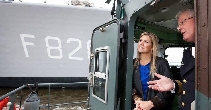 Prinses Máxima heeft dinsdagochtend een werkbezoek gebracht aan de Koninklijke Marine in Den Helder.