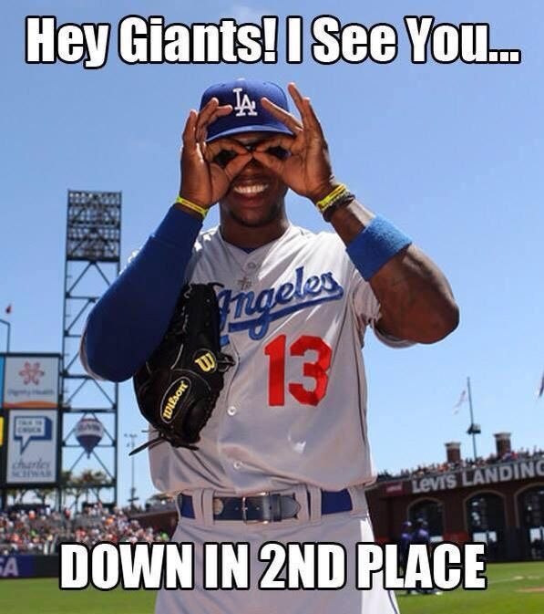Haha hey Giants! #Dodgers
