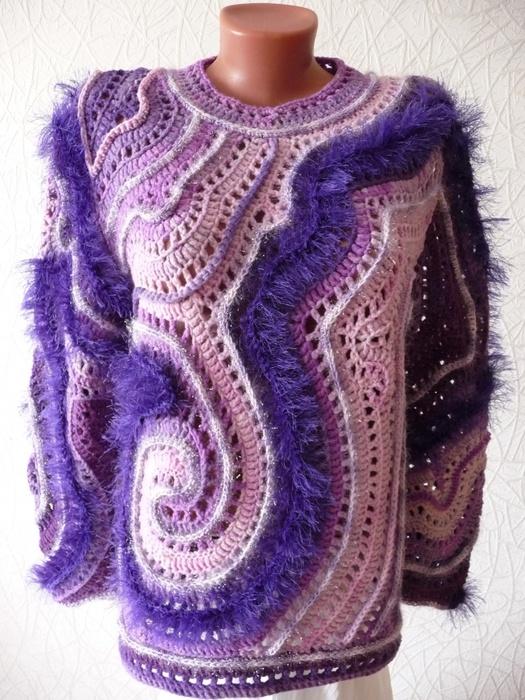214 best blusas crochet images on Pinterest | Ropas de ganchillo ...
