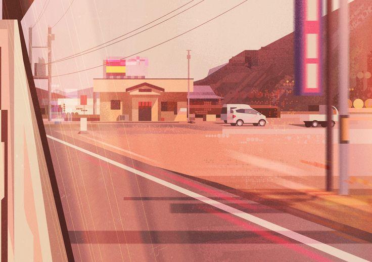 다음 @Behance 프로젝트 확인: \u201cJAPAN BY CAR\u201d https://www.behance.net/gallery/36665591/JAPAN-BY-CAR