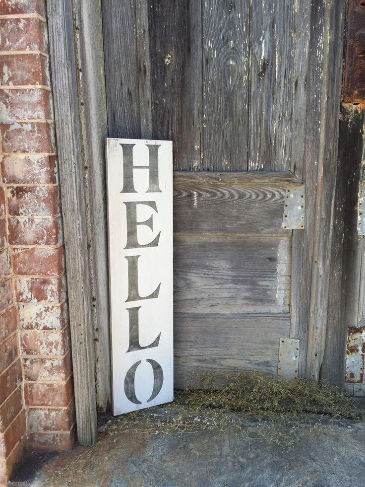 Best 25 Hello sign ideas on Pinterest Door wreaths Boxwood