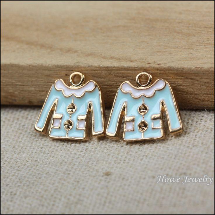 Ретро-синий эмаль очарование одежды , чтобы ювелирные изделия металлические ожерелья P011