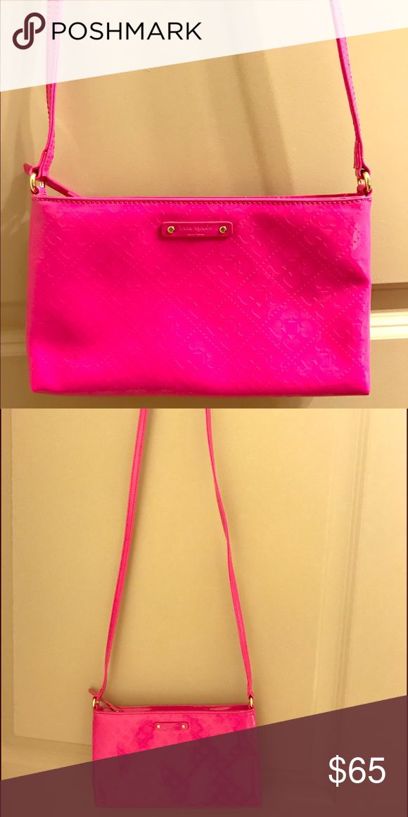 Kate Spade Hot Pink Purse Perfect size Kate Spade hot pink purse! kate spade Bags Crossbody Bags