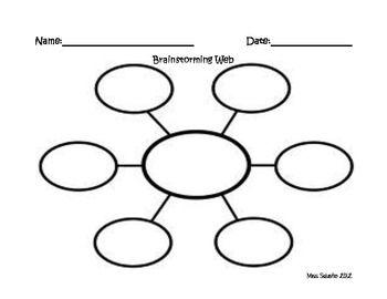 Brainstorming Web | Language Arts | Pinterest