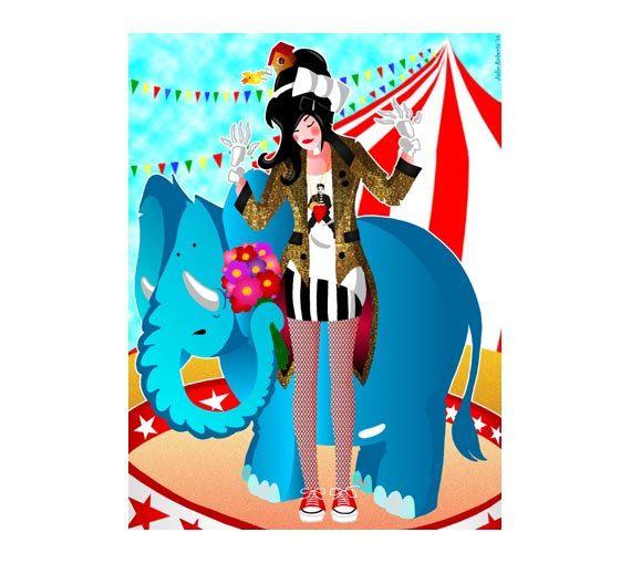 DOWNLOAD ISTANTANEO. Poster, Ginger degli elefanti, colori, Arte da appendere, Decorazione muro, Idea regalo.