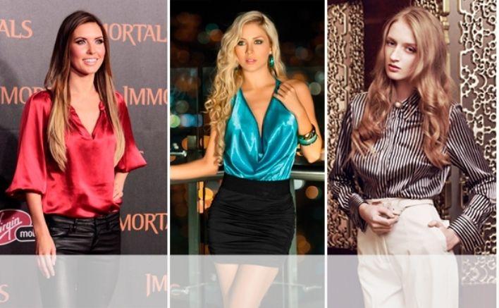 Как носить атласную блузку? Фасоны атласных блузок.