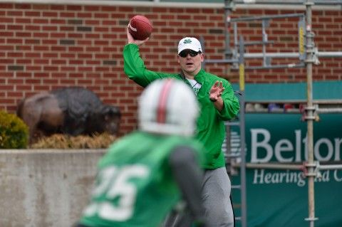 Marshall's Goebbel Happy To Be Back With Quarterbacks