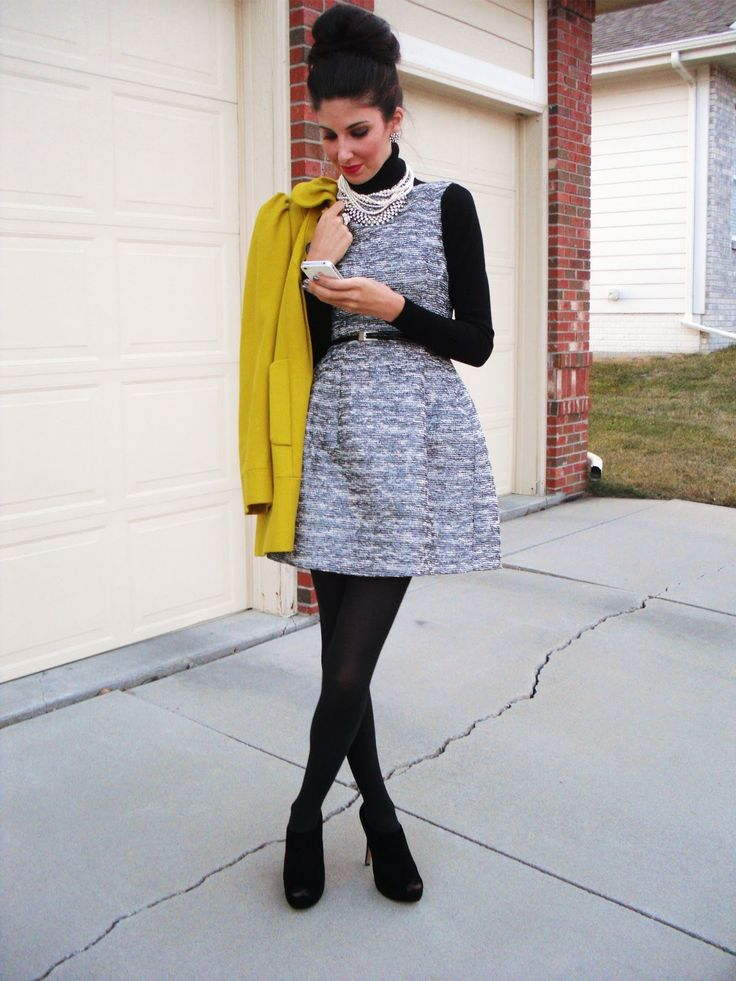 Style inspiration: turtleneck under any sheath or fit and flare dress (for fall and winter)