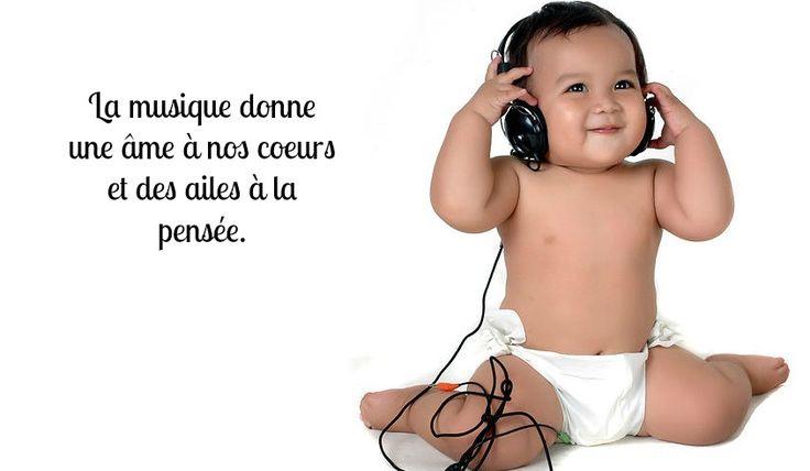 """""""La musique donne une ame à nos coeurs et des ailes à la pensée"""". #bebe #musique #enfant #ecouter #music #life #love #ame #emotions #coeurs #magic #ailes #fly #rever #dream #pensee #lavieestbelle"""