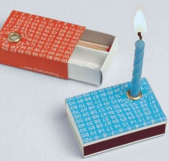match box-would be cute to decorate like a cake & send to someone on their birthday