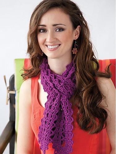 Crochet scarf pattern by Ellen Gormley from Learn Bruges Lace: Crochet Ideas, Crochet Projects, Crochet Hats, Crochet Scarf Patterns, Used Lace, Crochet Scarves, Learn Bruges, Crochet Patterns, Crochet Scarfs