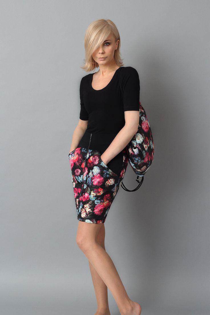 COL CLAUDINE PL, FLOWER skirt