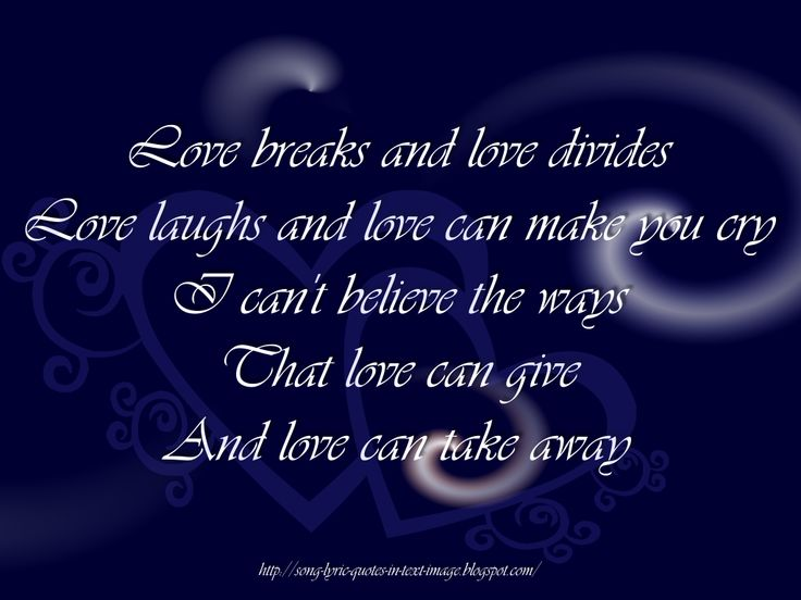 Song Lyric Quotes About Love