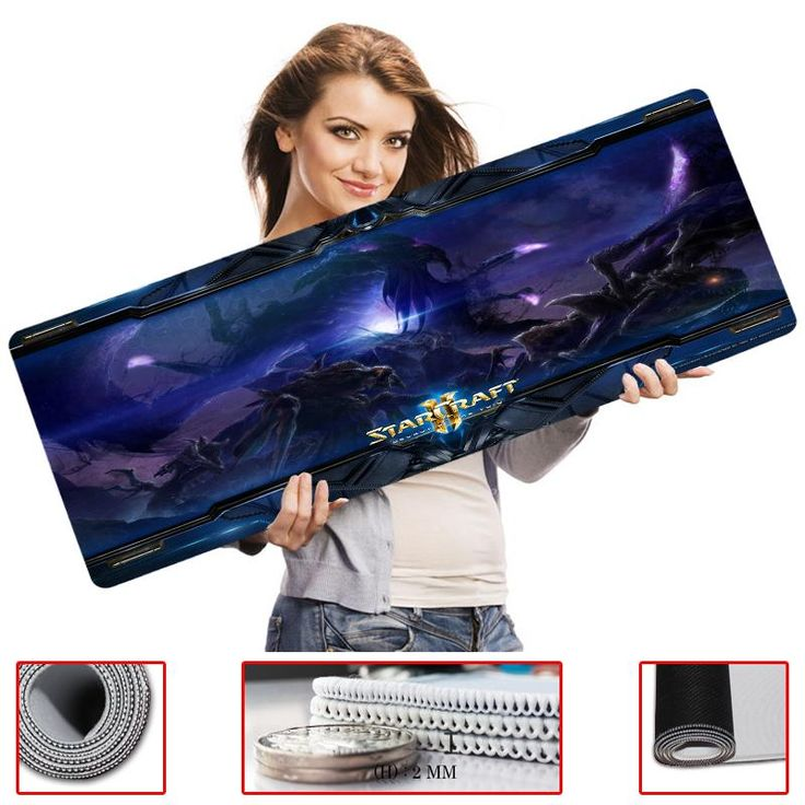 [Visit to Buy] Mouse pad Starcraft 2 300X900cm League of Legends mouse pad, Speed version locking edge,free shipping #Advertisement