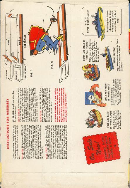 Captain Marvel cutouts! Shazam!   comic books comics cutouts