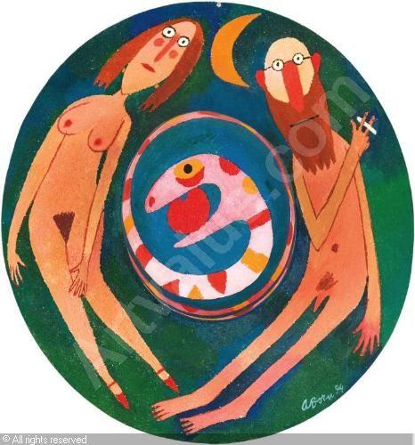 BORN Adolf,Adam, Eve and snake