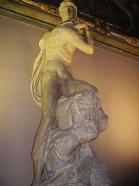 Génie de la Victoire ou Victoire par Michel - Ange, après 1532,  Palazzo Vecchio, Florence