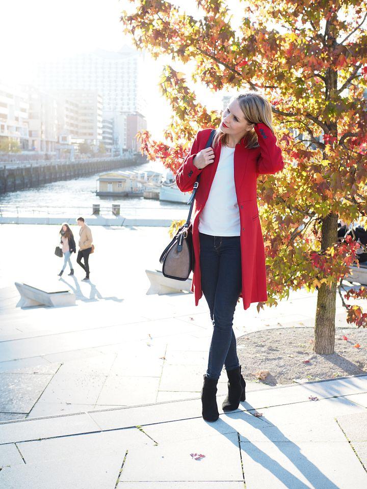 Herbstlook und Herbsttrend ROT