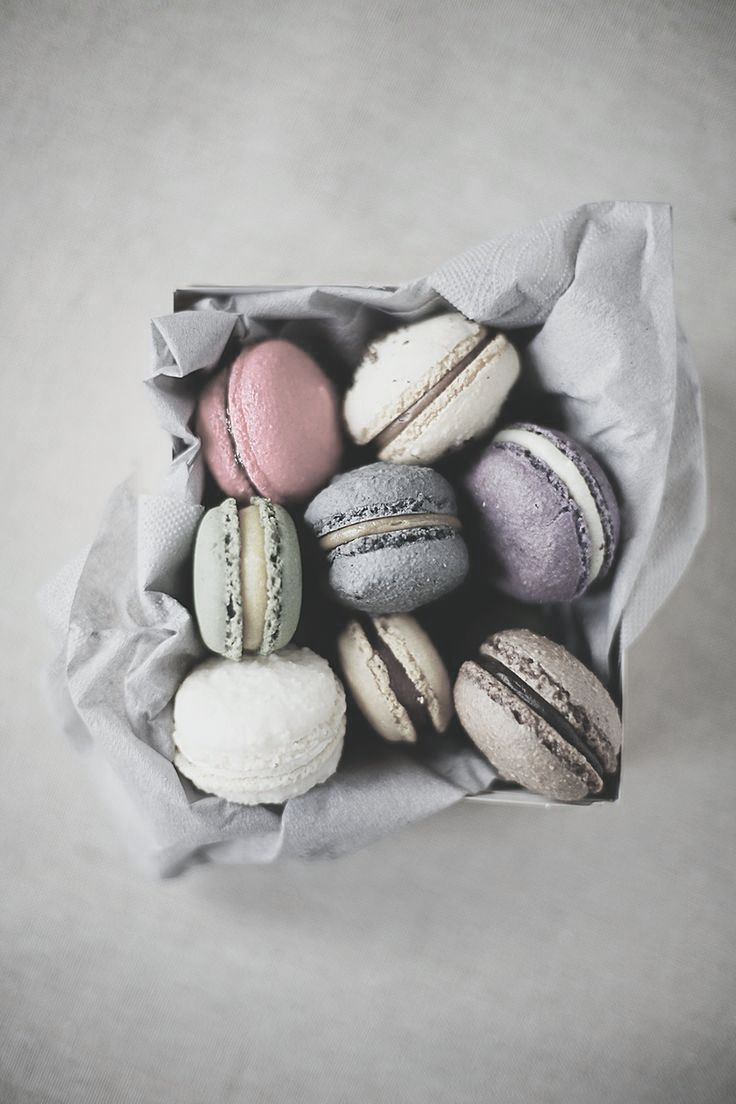 Muted pastel concrete texture macarons