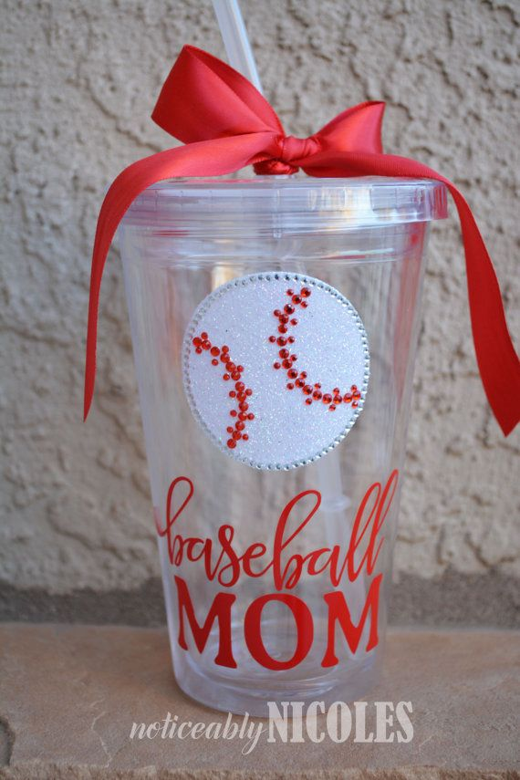 Baseball Mom Clear Tumbler Cup by noticeablyNICOLES on Etsy