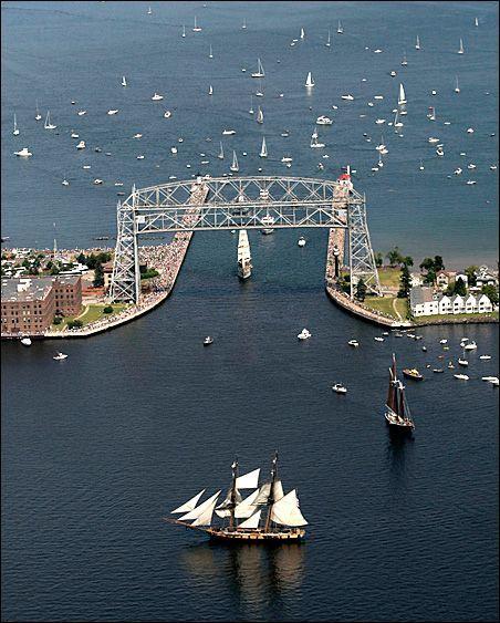 "minnpost:    MinnPost photo by Paul Walsh from ""'Tall Ships' sail into Duluth Harbor"" by Joe Kimball."