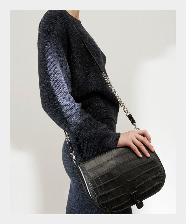 Little Liffner for Filippa K, exclusive handmade bags in croc embossed calf leather.