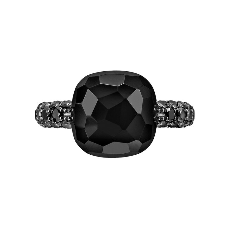 "Pomellato Black Onyx & Black Diamond ""Capri"" Ring 