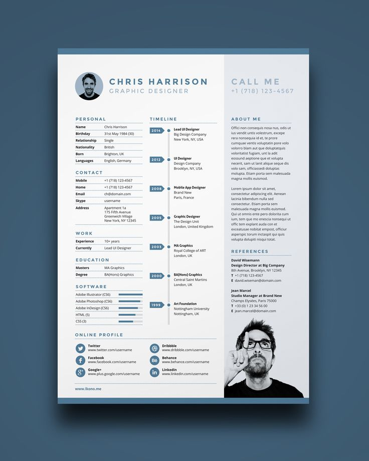 The 25+ best Free cv template ideas on Pinterest Cv design - one page resume template word