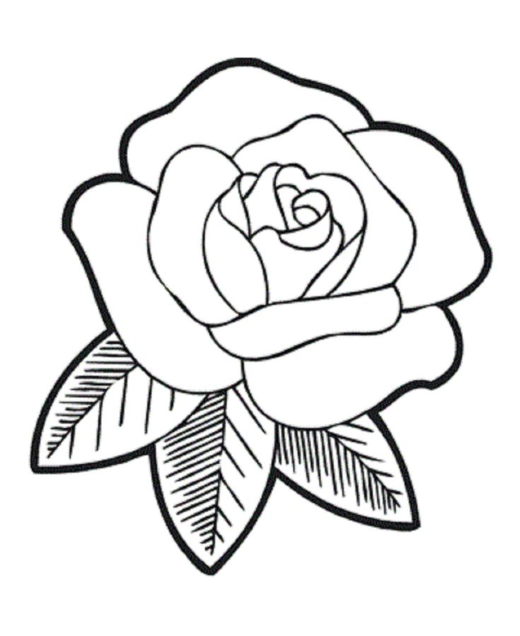 Cross With Rose Flower Coloring Coloring Pages