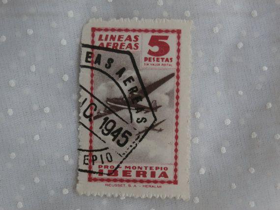 Lineas aereas Pro Montepio Iberia 5 Pesetas Spain Stamp