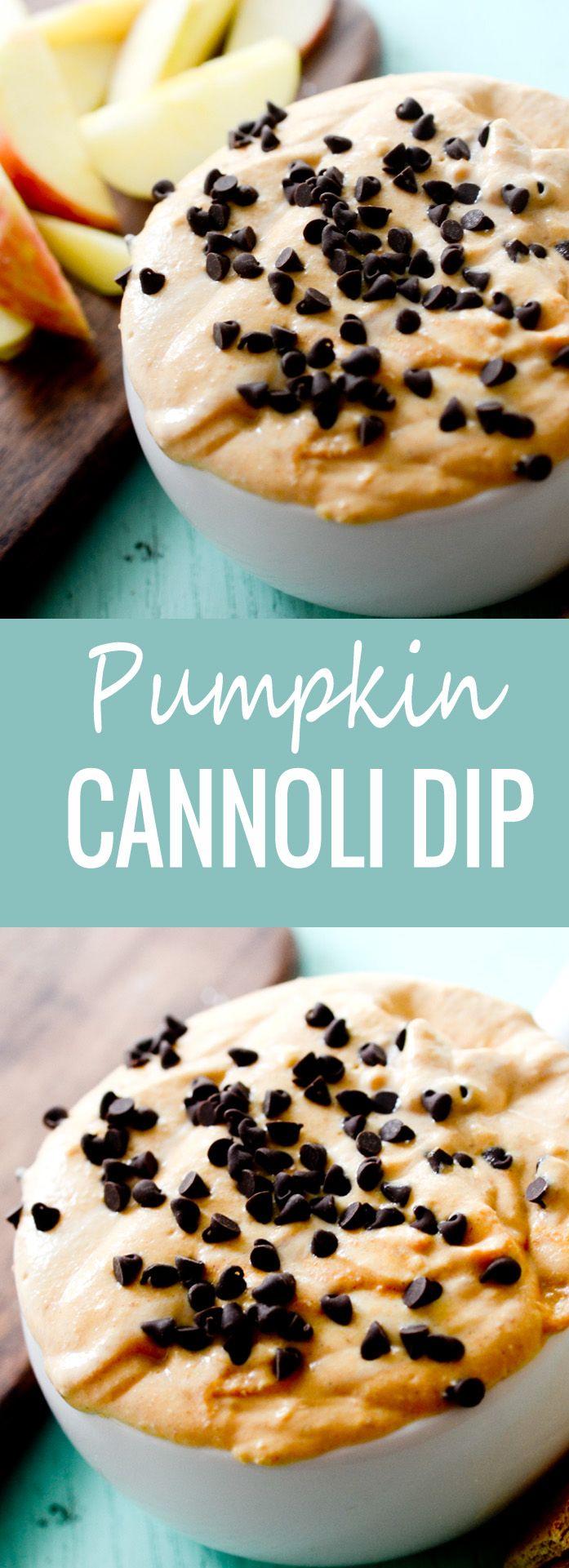 Pumpkin Cannoli Dip - Recipe Diaries #pumpkin