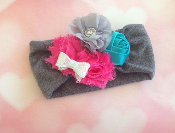 Baby head wrap by ChelceysBabyLoveBows on Etsy