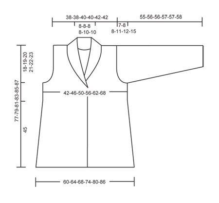 Casaco DROPS com pregas, tricotado de um lado ao outro em ponto jarreteira, em Karisma. Do S ao XXXL. Também se pode tricotar em Merino Extrafine Modelo gratuito de DROPS Design.