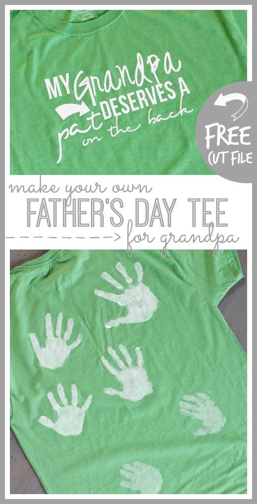 DIY Father's day handprint tee for grandpa from MichaelsMakers