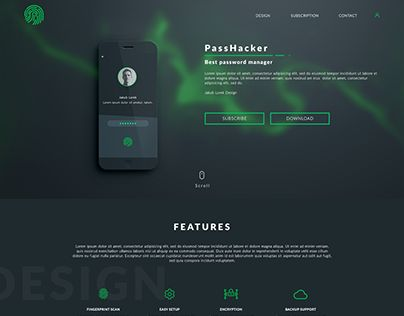 "Check out new work on my @Behance portfolio: ""PassHacker Design"" http://be.net/gallery/36170207/PassHacker-Design"