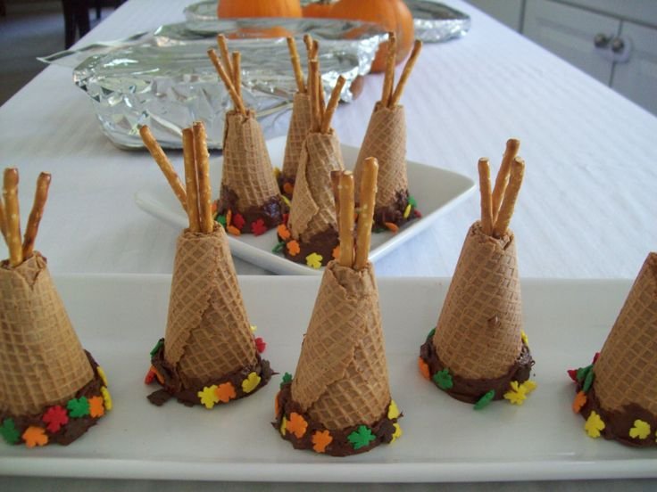 Edible teepees yummy eats for kiddies pinterest for Native american thanksgiving crafts