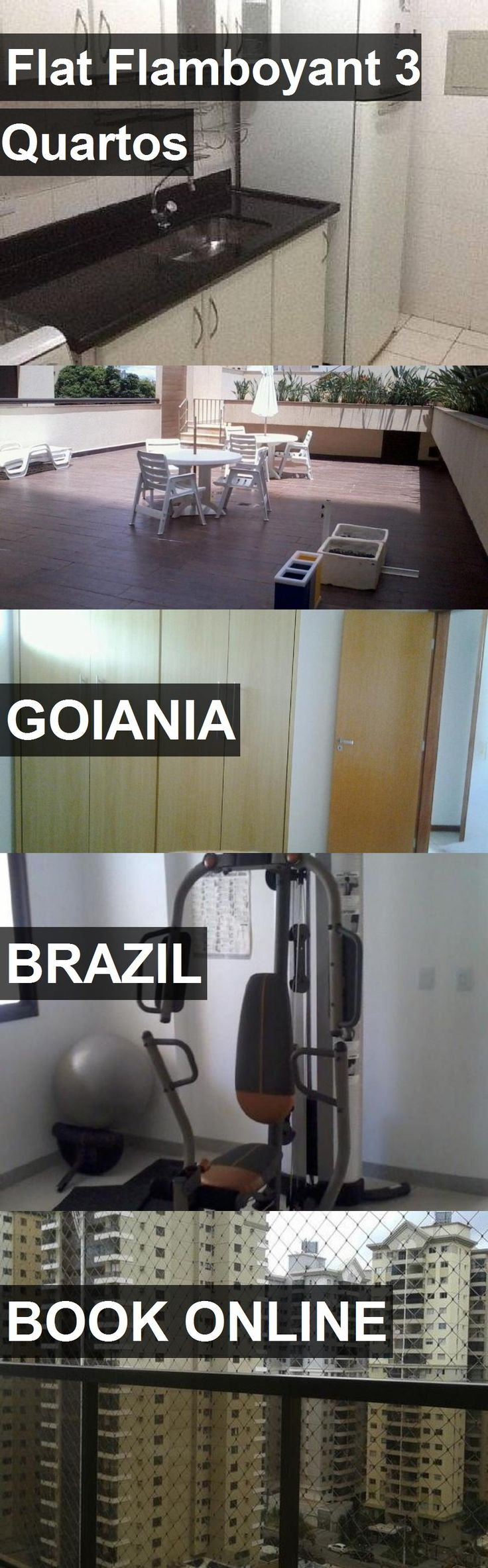 Hotel Flat Flamboyant 3 Quartos in Goiania, Brazil. For more information, photos, reviews and best prices please follow the link. #Brazil #Goiania #travel #vacation #hotel