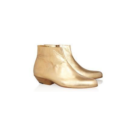Esquivel The Jett metallic leather ankle boots
