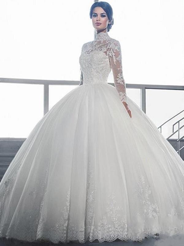 Doresuwe.com SUPPLIES 新作襟袖付きの高級レースのウェデングドレス 花嫁ドレス 新作ウェディングドレス