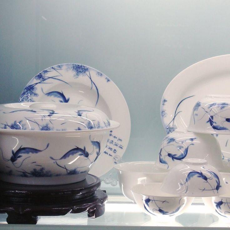 Specials seconds six provinces killed 56 skulls of Jingdezhen porcelain tableware set Korean style bowl of & 26 best Korean Dinnerware images on Pinterest   Dinnerware ...