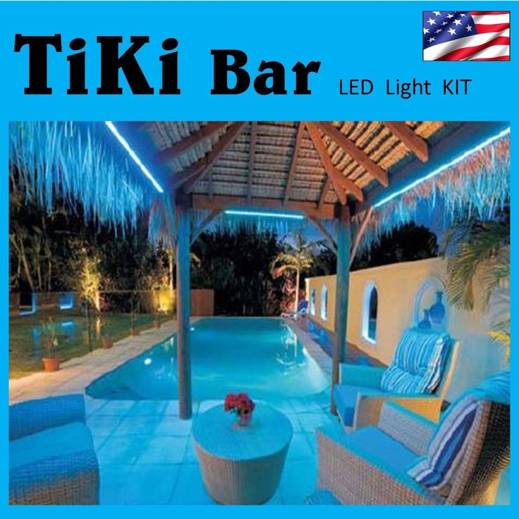Tiki Bar Led Light Decoration - With Remote Control - Custom Cut Sizes Available