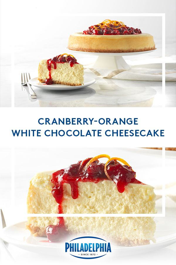 Cranberry Orange White Chocolate Cheesecake Thanksgiving Desserts Table Just Desserts Cheesecake Recipes