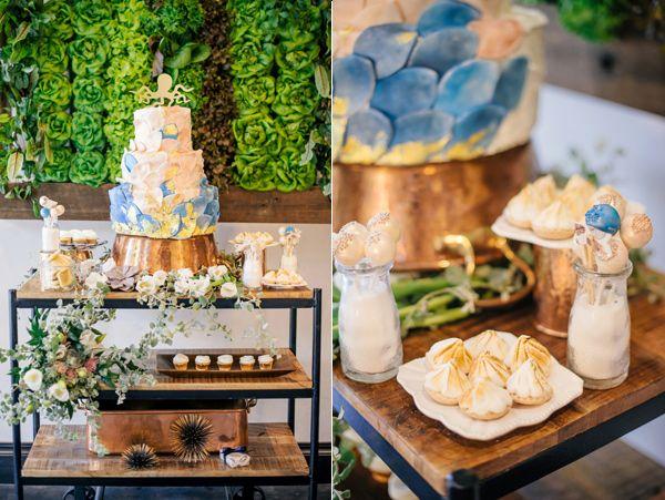 cake dessert tables - photo by Angel He Photography http://ruffledblog.com/tampa-modern-wedding-ideas