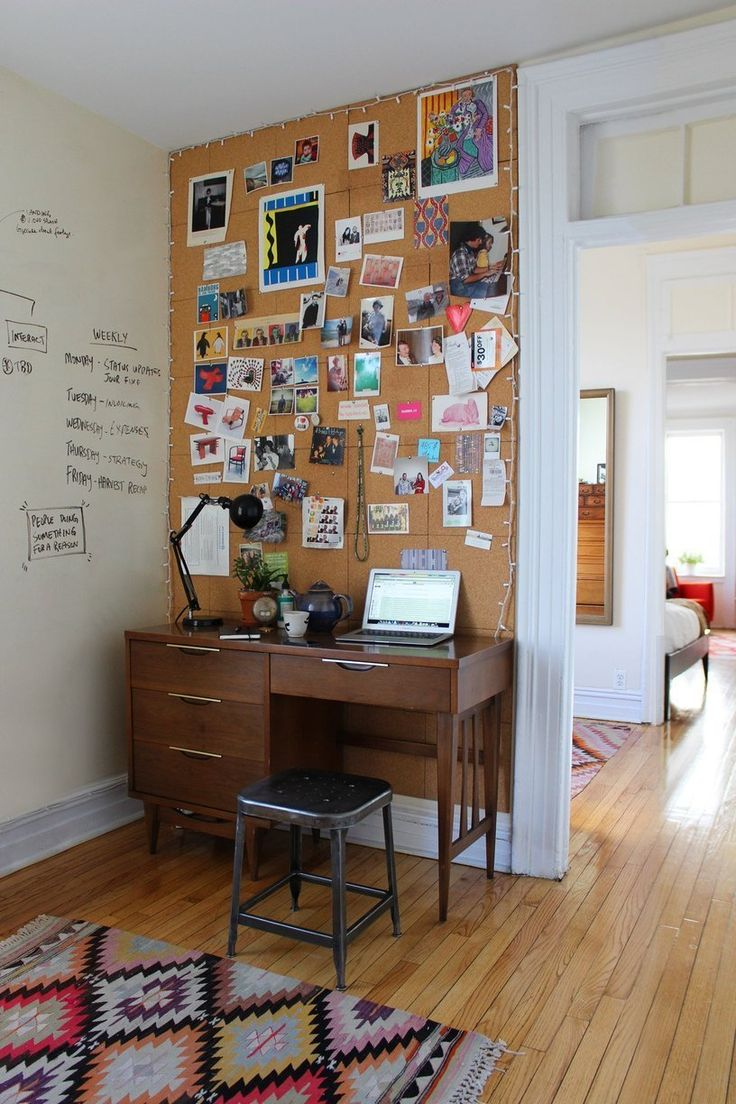 Alana's Brooklyn Railroad. Love the lights circling the perimeter of the wall and the wall painted to be a whiteboard.